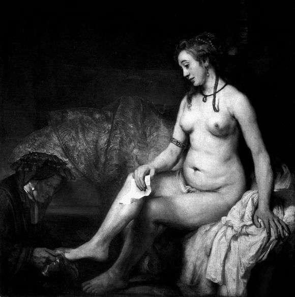 Описание картины Рембрандта Харменса ван Рейна «Вирсавия»