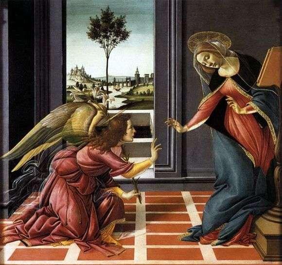 Описание картины Сандро Боттичелли «Благовещение»