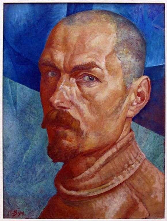 Описание картины Кузьмы Петрова Водкина «Автопортрет»