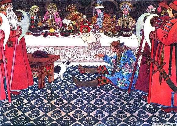Описание иллюстрации Ивана Билибина «Пир у князя Гвидона»