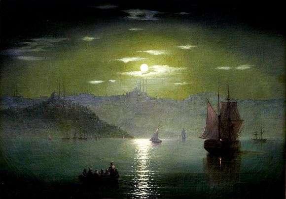 Описание картины Ивана Айвазовского «Лунная дорожка»