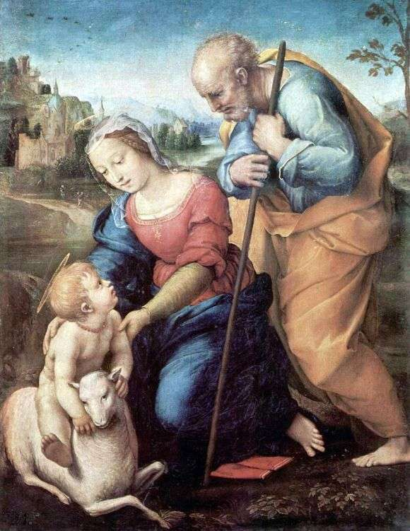 Описание картины Рафаэля Санти «Святое Семейство»