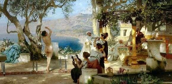 Описание картины Генриха Семирадского «Танец среди мечей»