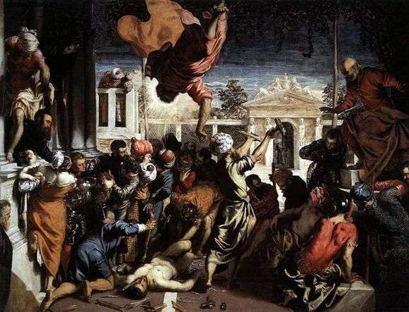 Описание картины Тинторетто «Чудо святого Марка»