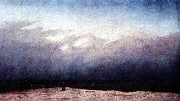 Описание картины Каспара Давида Фридриха «Монах у моря»