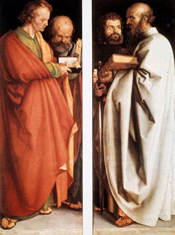 Описание картины Альбрехта Дюрера «Четыре апостола»