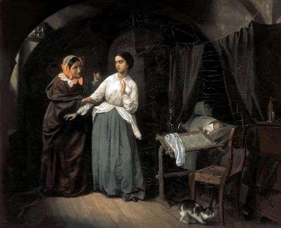 Описание картины Николая Шильдера «Искушение»