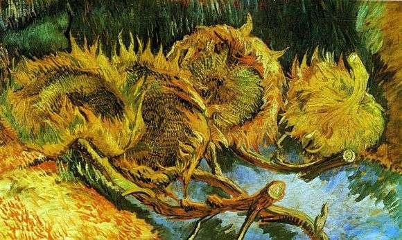 Описание картины Винсента Ван Гога «Четыре увядающих подсолнуха»