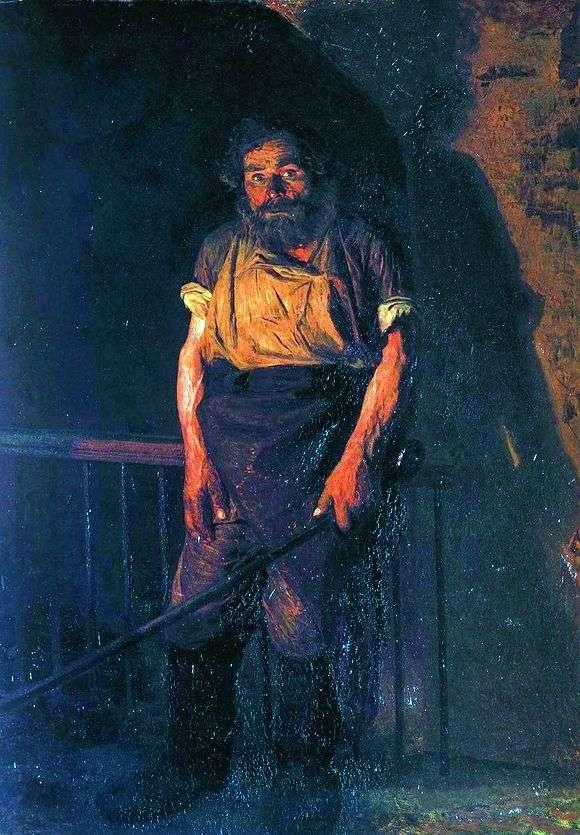 Описание картины Николая Ярошенко «Кочегар»