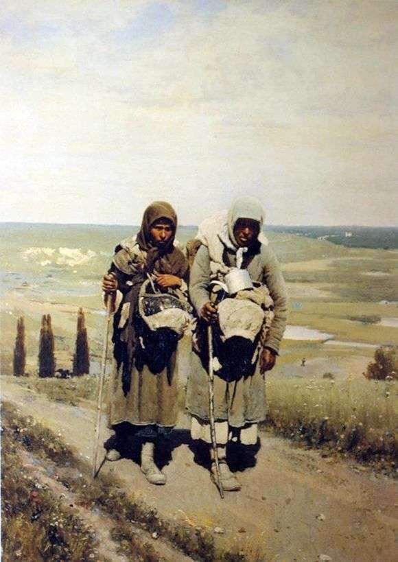 Описание картины Ильи Репина «Богомолки странницы»