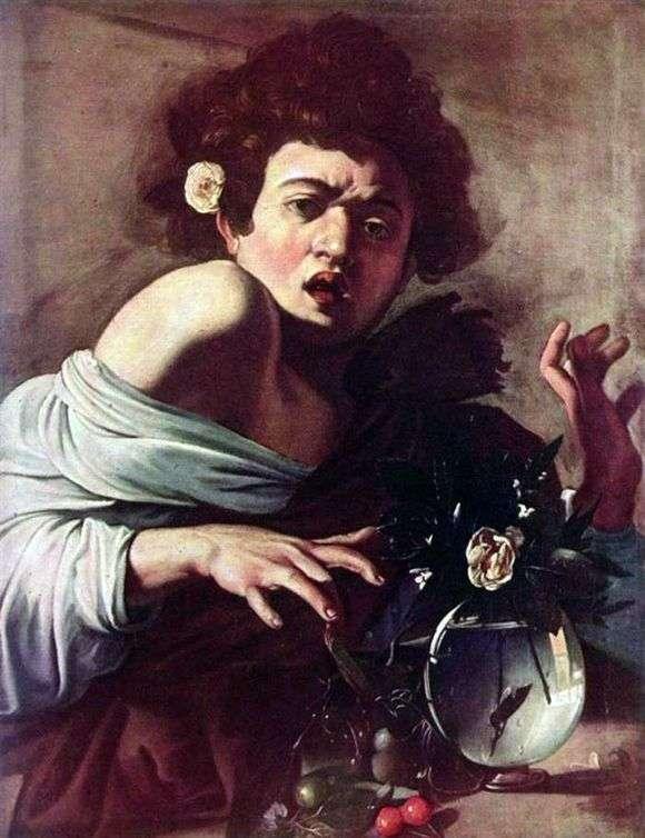Описание картины Микеланджело Меризи да Караваджо «Мальчик укушенный ящерицей»