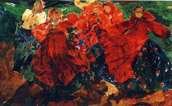 Описание картины Филиппа Малявина «Вихрь»