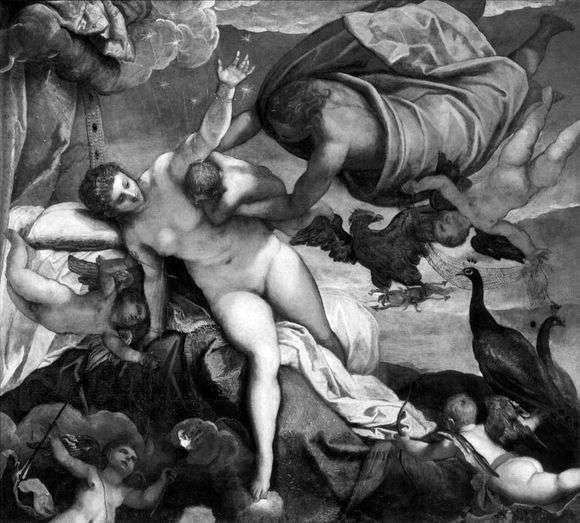 Описание картины Тинторетто «Происхождение млечного пути»