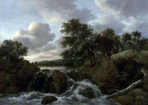 Описание картины Якоба Исаака Рейсдала «Пейзаж с водопадом»