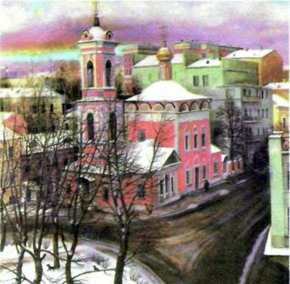 Описание картины Татьяны Назаренко «Церковь вознесения на улице Нежданова»
