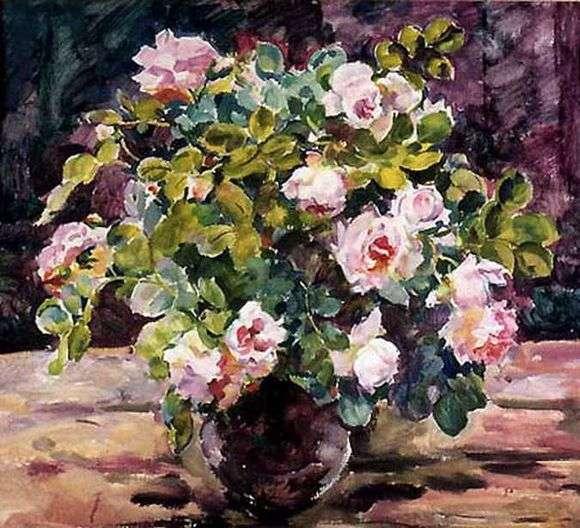 Описание картины Евгении Антиповой «Розы»