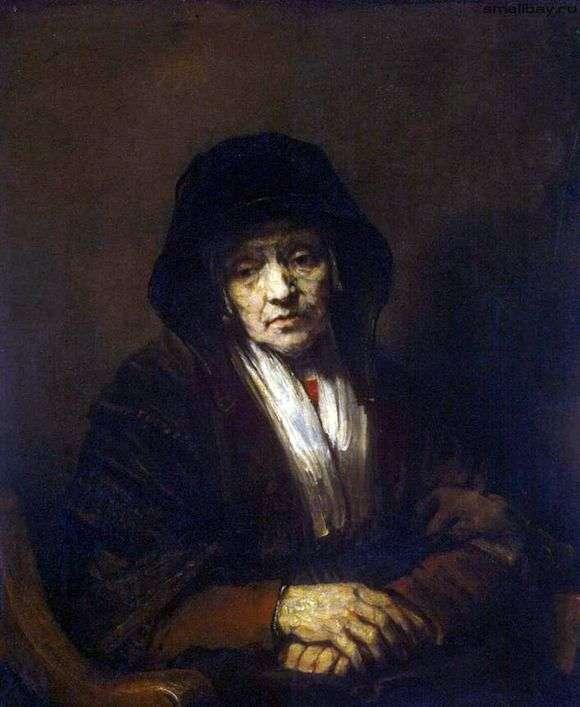 Описание картины Рембрандта Харменса ван Рейна «Портрет старушки»