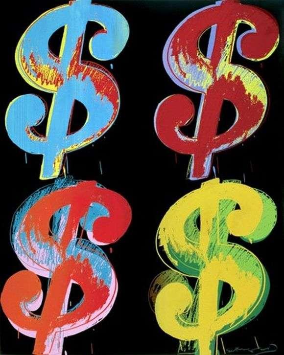 Описание картины Энди Уорхола «Доллары»