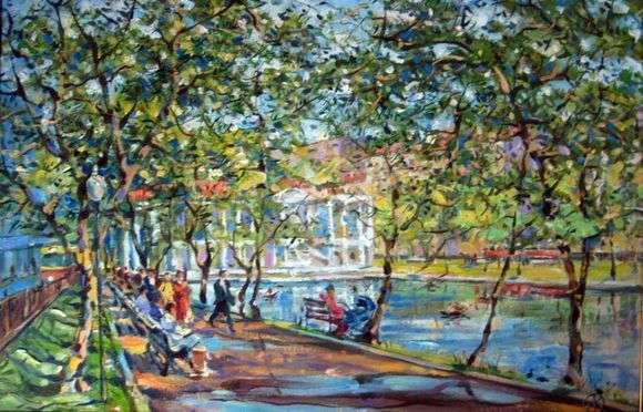 Описание картины Владимира Орлова «Чистые пруды»