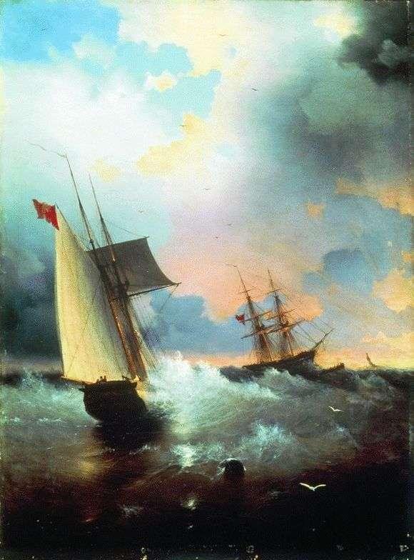 Описание картины Ивана Айвазовского «Парусники»