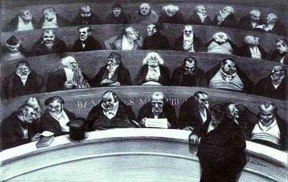 Описание картины Оноре Домье «Законодательное чрево»