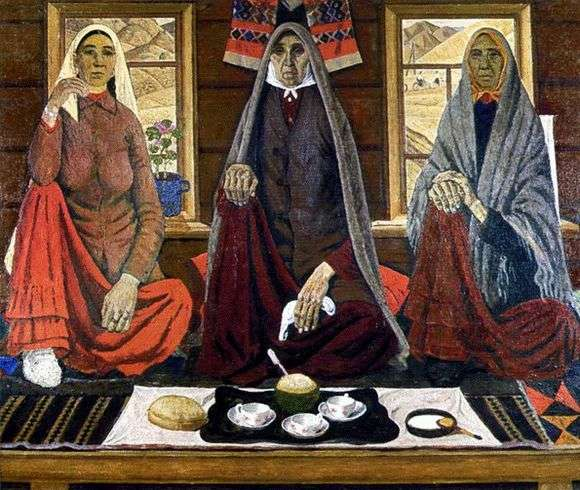 Описание картины Ахмата Лутфуллина «Три женщины»