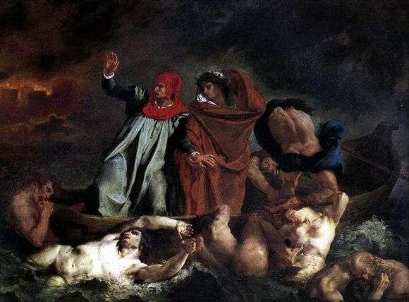 Описание картины Эжена Делакруа «Данте и Вергилий»