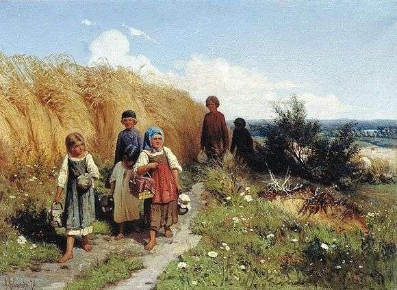 Описание картины Алексея Кившенко «Жнитво»