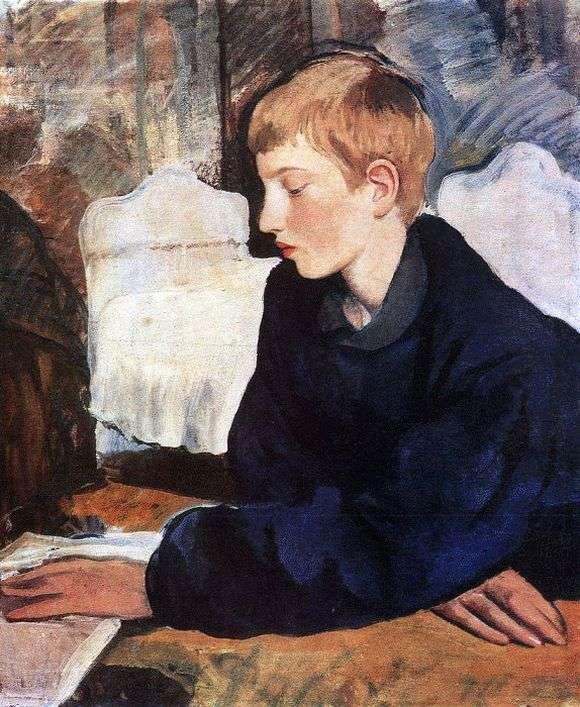 Описание картины Зинаиды Серебряковой «Портрет Жени»