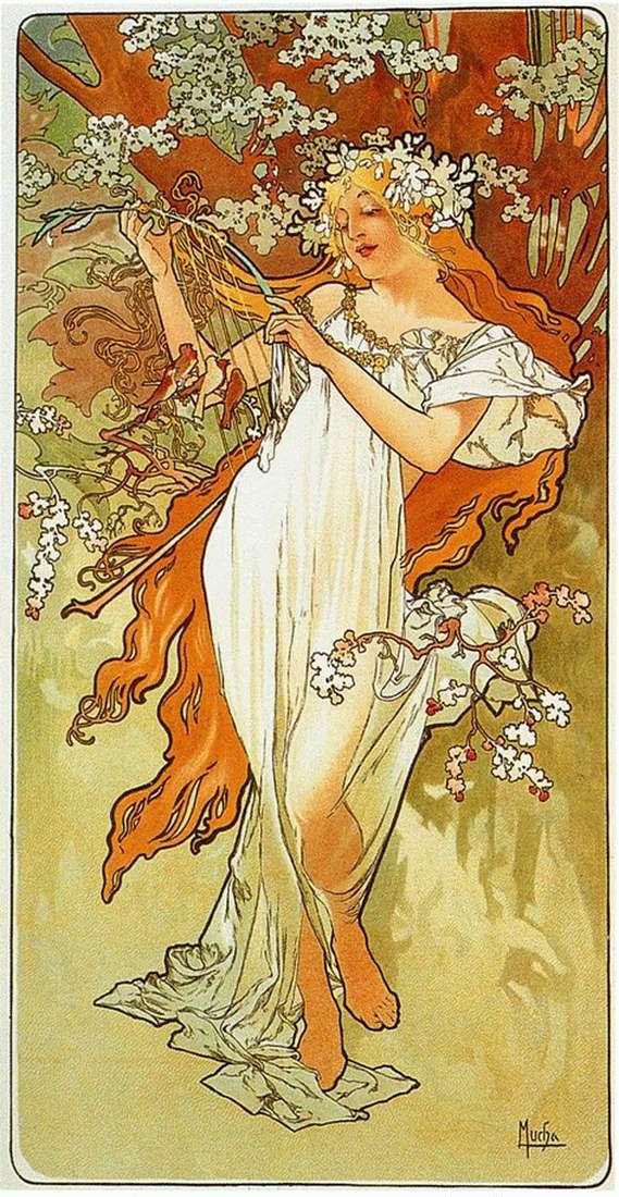 Описание картины Альфонса Мухи «Весна»