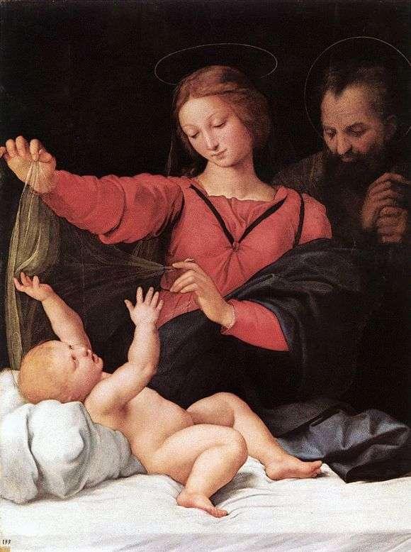 Описание картины Рафаэля Санти, картина «Мадонна с вуалью»