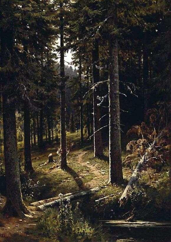 Описание картины Ивана Шишкина «Лесной пейзаж»