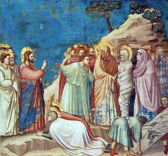 Описание картины Джотто «Воскрешение Лазаря»