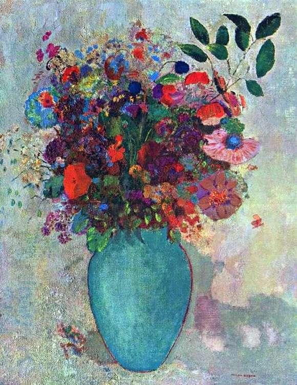 Описание картины Одилона Редона «Цветы»