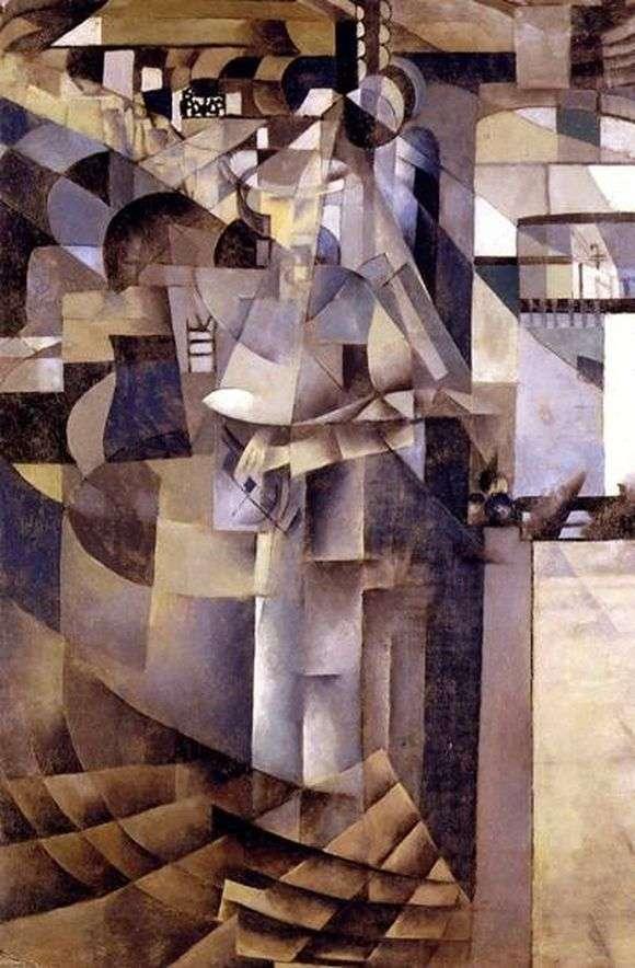 Описание картины Казимира Малевича «Жизнь в большой гостинице»
