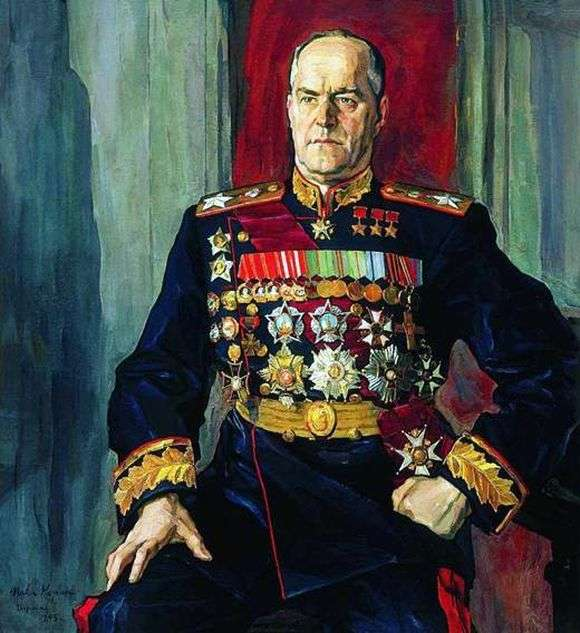 Описание картины Павла Корина «Портрет маршала Жукова»