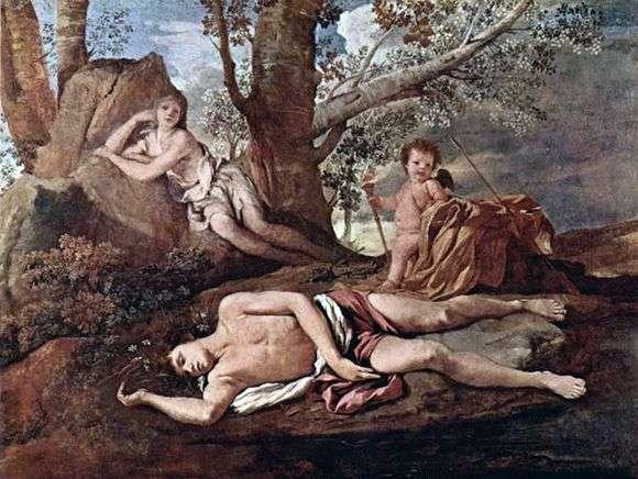 Описание картины Николы Пуссена «Нарцисс и эхо»