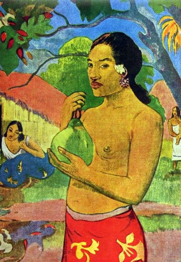 Описание картины Поля Гогена «Женщина, Держащая плод (1893)»