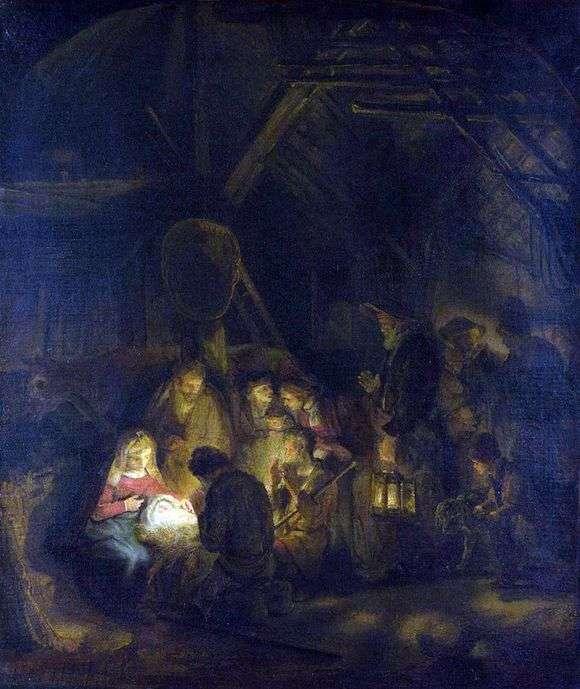 Описание картины Рембрандта Харменса Ван Рейна «Поклонение волхвов»