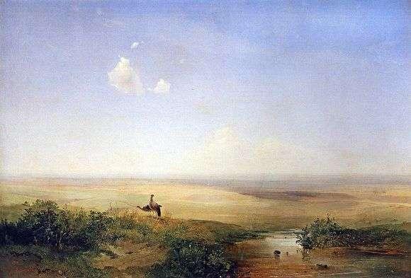 Описание картины Алексея Кондратьевича Саврасова «Степь днём (1875)»