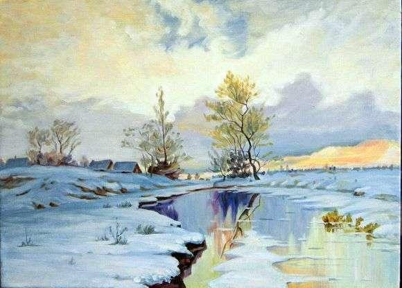 Описание картины Ивана Ивановича Ендогурова «Начало весны (1885)»