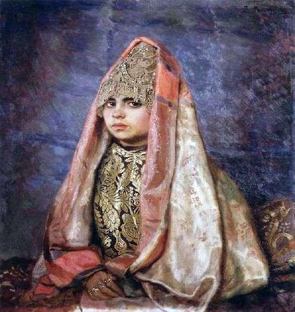 Описание картины Виктора Михайловича Васнецова «Боярышня (1884)»