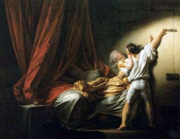 Описание картины Жана Оноре Фрагонара «Задвижка»