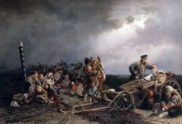Описание картины Валерия Якоби «Привал арестантов»