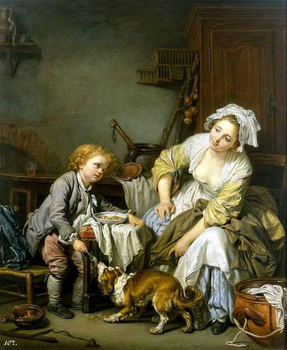 Описание картины Жана Батиста Греза «Балованное дитя»