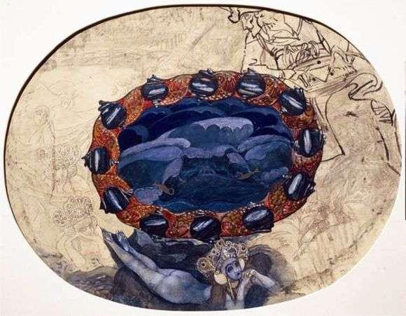 Описание картины Михаила Врубеля «Садко на берегу Ильмень озера»