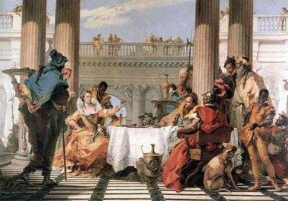 Описание картины Джованни Тьеполо «Пир Клеопатры»