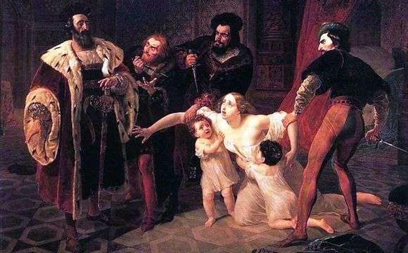Описание картины Карла Брюллова «Смерть Инессы де Кастро»