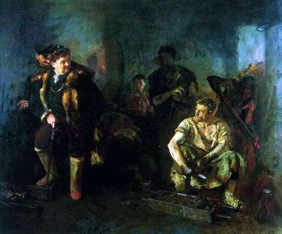 Описание картины Бориса Иогансона «На старом уральском заводе»
