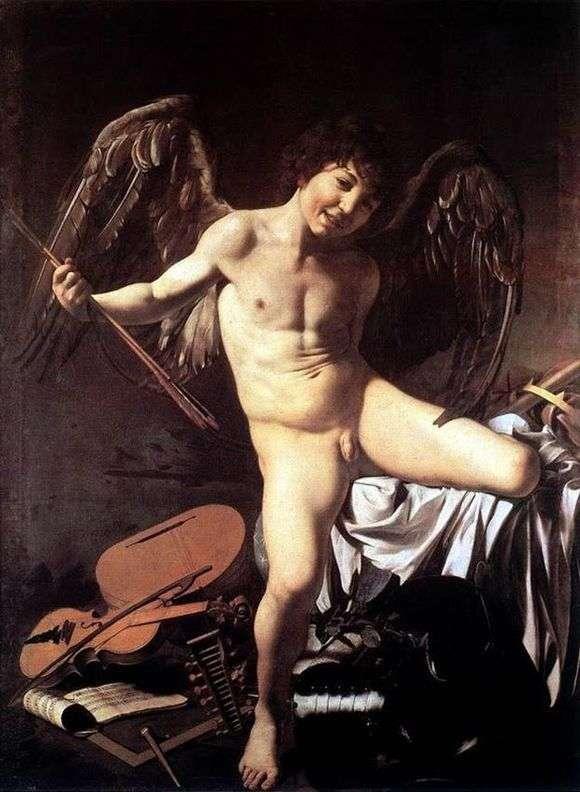 Описание картины Караваджо «Амур победитель»